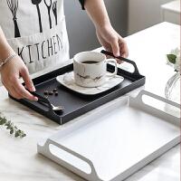 不锈钢托盘长方形家用客厅商用北欧水果水杯子茶杯端菜托盘
