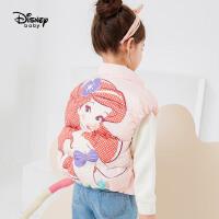 【4折�A估�r:121元】迪士尼女童羽�q�R甲秋冬新款�r尚童�b上衣大卡通米奇�和�����背心