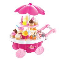女孩过家家音乐灯光手推糖果车冰淇淋玩具厨房套装儿童玩具