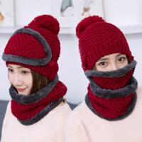 毛线帽子女冬季加厚加绒保暖防风时尚韩版护耳帽潮流骑车帽女冬天