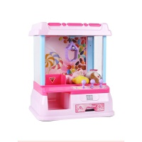 迷你扭蛋机 迷你抓娃娃机夹公仔机吊糖果机扭蛋机小型家用游戏机女孩儿童玩具