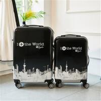 茉蒂菲莉 拉杆箱 20寸卡通图案箱子万向轮拉杆箱24寸登机旅行箱男女行李箱