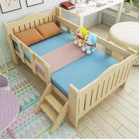 实木儿童床松木床拼接床带护栏小床男孩女孩公主床小孩床加宽床 其他 不带