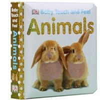 现货 DK宝宝触摸纸板绘本系列 英文原版 Baby Touch and Feel Animals 宝宝触摸书 小动物 DK 儿童 幼儿 启蒙绘本