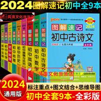 2020版图解速记初中全套9本pass绿卡图解速记初中古诗文数学英语物理化学生物思想品德历史地理知识大全