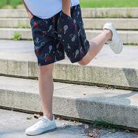 童装儿童短裤2019夏季新款男童五分裤中大童男孩运动休闲速干裤子