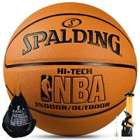 斯伯丁SpaldingNBA篮球74-600Y室外室内lanqiu室内外用PU皮7号标准篮球