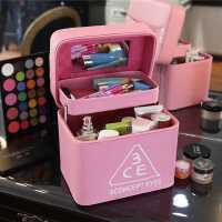 化妆包韩国大容量可爱女士多层淑美雅收纳包旅行便携手提化妆箱式