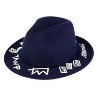 时尚高顶毛呢英伦小礼帽秋 韩版潮毡帽礼帽 圆顶时装帽