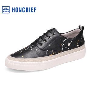 红蜻蜓旗下品牌  HONCHIEF男鞋休闲鞋秋冬鞋子男板鞋KZA7100