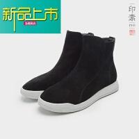 新品上市中国风官靴真皮高帮男鞋男中筒复古潮靴子舒适透气春款潮鞋休闲鞋