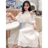 很仙的小众连衣裙新款女装流行夏天裙子气质露肩中长款仙女裙