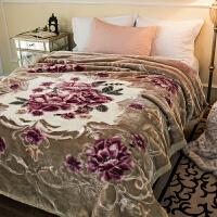 拉舍尔毛毯被子5D云毯双层绒毯加厚保暖婚庆毯子冬季睡毯结婚盖毯y 200x230cm 11斤