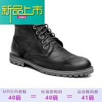 新品上市秋冬季英伦潮流马丁靴男潮短靴真皮百搭工装靴休闲高帮鞋男士靴子