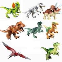 积木恐龙暴龙霸王龙侏罗纪男孩拼装积木玩具