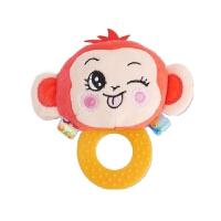 能咬的玩具 宝宝磨牙玩具手抓握可啃咬婴儿摇铃硅胶能咬咬乐