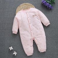 婴儿秋冬季加厚连体衣服初生冬装新生儿女0-3-6个月棉衣冬天外套