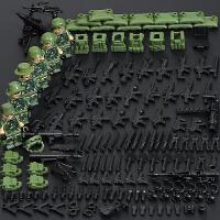 特警积木军事警察特种兵小人仔偶拼装益智男孩子我的世界玩具