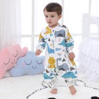 婴儿睡袋夏季薄款幼儿童宝宝春秋款分腿纱布防踢被四季通用款