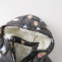davebella戴维贝拉童装冬新款女童棉服宝宝卡通加绒棉衣DBZ12623