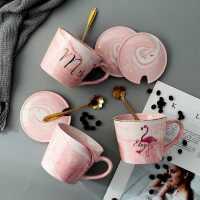 创意个性欧式陶瓷咖啡杯带盖勺男女生情侣早餐牛奶喝水泡茶马克杯