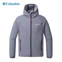 Columbia哥伦比亚2019春夏新品户外男装防水透气连帽弹力软壳衣WE1207