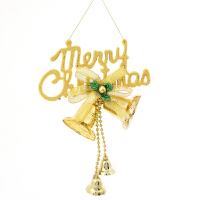 圣诞节装饰品 圣诞挂件 圣诞树装饰品 字母铃铛串挂牌
