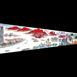 中国美术家协会会员  袁延佩 《中华腾飞2》