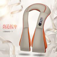 简诚颈椎按摩器多功能捶打按摩披肩 按摩披肩腰部背部米白插手99模式20力度