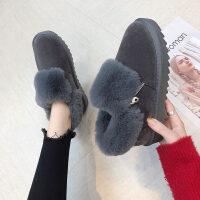 毛毛鞋女2018冬季新品布鞋女孕妇加绒保暖大棉鞋妈妈散步鞋