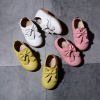 女童皮鞋2018新款春秋季公主鞋软底宝宝鞋休闲单鞋儿童豆豆鞋