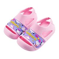 儿童凉鞋女童沙滩鞋宝宝防滑柔软中大童男童洞洞鞋