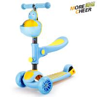 幼儿女宝宝男孩小孩滑滑车儿童滑板车闪光2-3-6岁3宽轮溜溜车