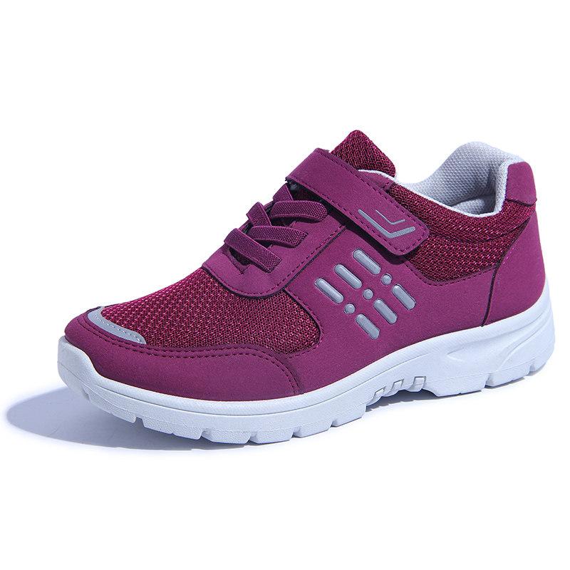 春季老人鞋滑软底中老年健步鞋舒适妈妈运动鞋平底老北京布鞋女   春季时尚新款女鞋男鞋