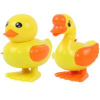 跳跳鸡 宝宝一对跳跳鸭子小鸡动物婴儿铁皮青蛙发条玩具6-12个月怀旧80后