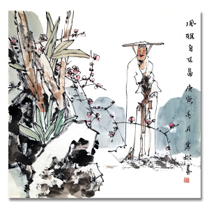 中国美术家协会会员 马寒松 《风雅自在》