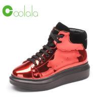 红蜻蜓旗下品牌COOLALA女鞋秋冬休闲鞋板鞋女鞋子高帮鞋HNB6300