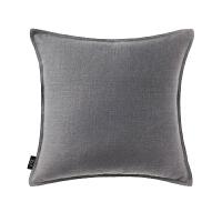 纯色棉麻靠背垫简约现代汽车靠垫亚麻大靠枕套不含芯沙发抱枕