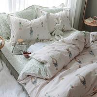 ins四件套韩式公主风纯棉少女心床单1.5m被套宿舍单人床上三件套3