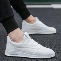 2019新品春季帆布鞋男士一脚蹬套脚懒人鞋学生休闲板鞋