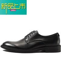 新品上市新款欧美德比鞋男系带英伦商务正装皮鞋真皮时尚休闲皮鞋男婚鞋潮