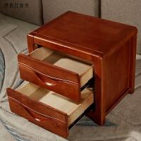 简约现代住宅家具欧式带锁迷你床边收纳储物柜床头柜 海棠色 整张发货 整装