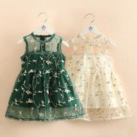 宝宝无袖连衣裙 夏装女童童装儿童圆领裙子