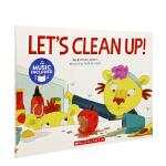 英文原版 Let's Clean Up! 让我们打扫卫生!书+CD 4-8岁