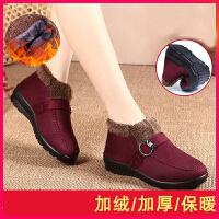 老北京布鞋女冬妈妈棉鞋加绒女鞋休闲简约中年女士鞋子保暖厚鞋