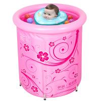 宝宝幼儿小号保温游泳桶婴儿游泳池粉公主支架式游泳池
