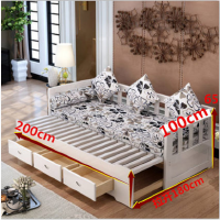 伸缩实木沙发床可折叠小户型多功能1.5米推拉坐卧两用客厅双人1.8 3pv