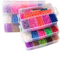 橡皮筋编织手工玩具 彩虹编织机彩色橡皮筋DIY手工制作儿童女孩编手链的皮筋