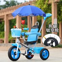 20190427061037231三轮车脚踏车宝宝童车婴儿手推车小孩自行车1-2-3-5-6岁 钛空轮蓝 钛空四合一