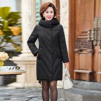 羽绒服新款中老年女中长款40岁50妈妈装冬装中年女装加厚外套